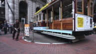 MS Cable car turnaround in city / San Francisco, California, United States