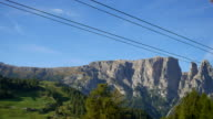 Cable car with mountain ,Dolomite italy