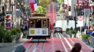Cable Cars in der Powell Street in San Francisco