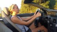 Cabriolet driving