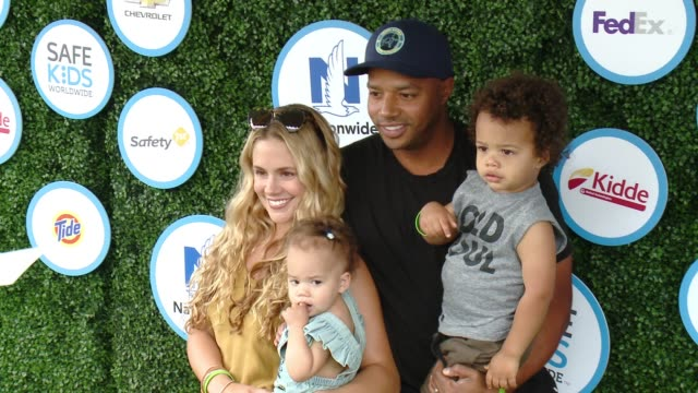 CaCee Cobb and Donald Faison at Safe Kids Day at Smashbox Studios on April 24 2016 in Culver City California