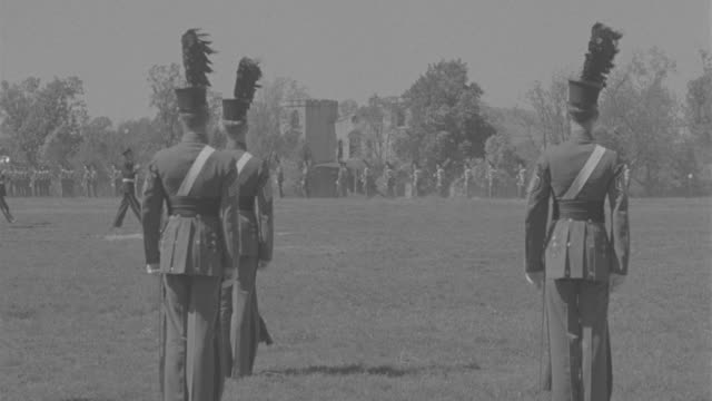 MS Cadets marching at Virginia Military Institute campus