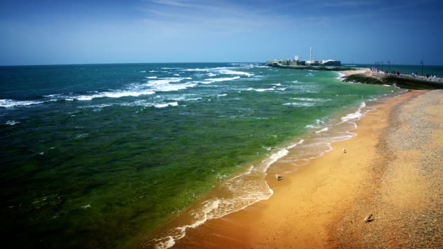 Cadiz, ocean coast of Spain