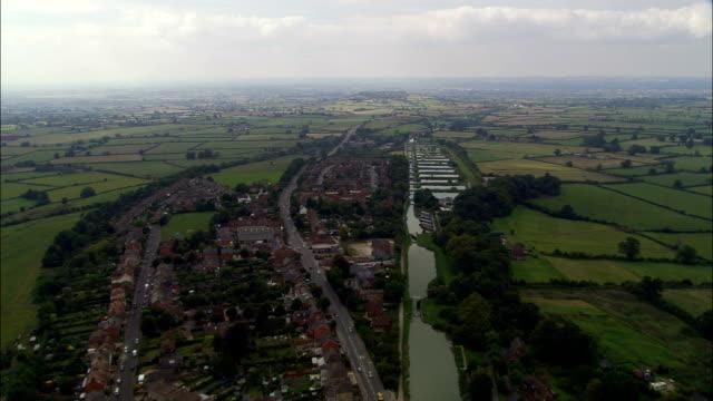 Caen Hill Flug der Schlösser-Luftaufnahme-England Wiltshire, Rowde, Vereinigtes Königreich