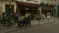 Cafe in the Marais, Paris, France