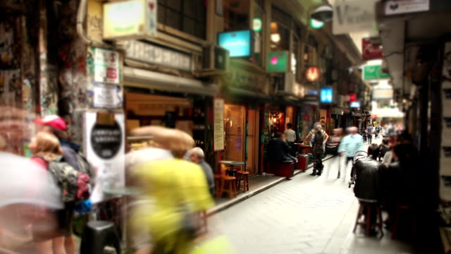Cafe Laneway a Melbourne, in Australia