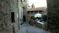 MS Cafe on side street / Suvereto, Tuscany, Italy