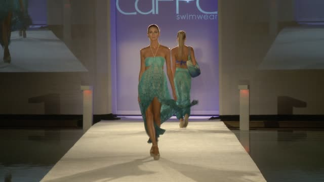 CLEAN Caffe Swimwear SS16 Collection at SWIMMIAMI Runway at FUNKSHION Tent on July 18 2015 in Miami Florida