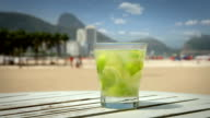 Caipirinha Cocktail on Copacabana Beach, Rio de Janeiro