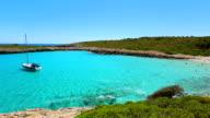 Cala Varques on east coast on Spanish Balearic island of Majorca / Spain