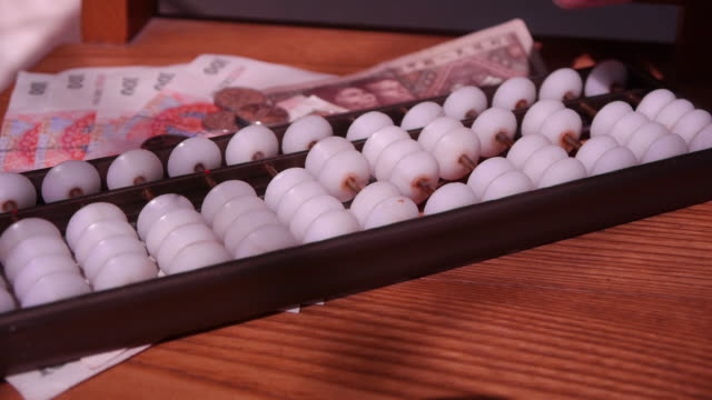 Calculate on an abacus