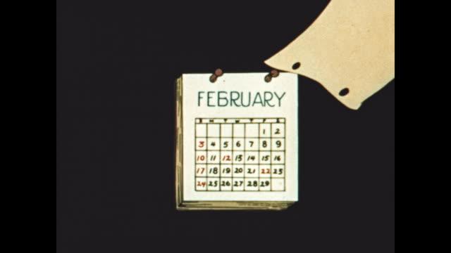 Calendar flipping through months