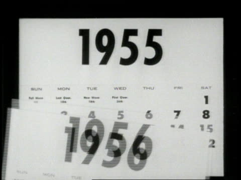Calendar pages fall starting with 1958 and ending on 1945