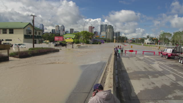 Calgary Flood Hyperlapse is a reverse-zoom hyperlapse sequence leading into downtown Calgary.