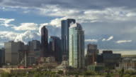 Calgary Scotsman Skyline Hyperlapse rotation of the Calgary downtown core