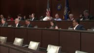 California Congressman Adam Schiff asks former Homeland Security Secretary Jeh Johnson at a hearing of the House Intelligence Committee inquiring...