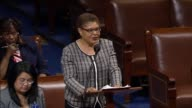 California Congresswoman Karen Bass offers initial remarks on a resolution urging the government of South Sudan to allow immediate and unrestricted...