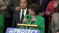 California Congresswoman Lucille RoybalAllard says at a gathering of congressional Democrats that she stood in outrage over an unconscionable...