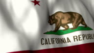 California Flag High Detail - Looping