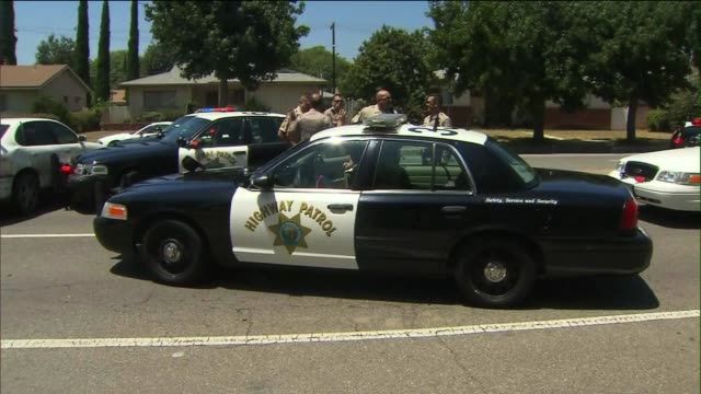 California Highway Patrol Officers Arrest Man After HighSpeed Pursuit on July 31 2013 in Northridge California