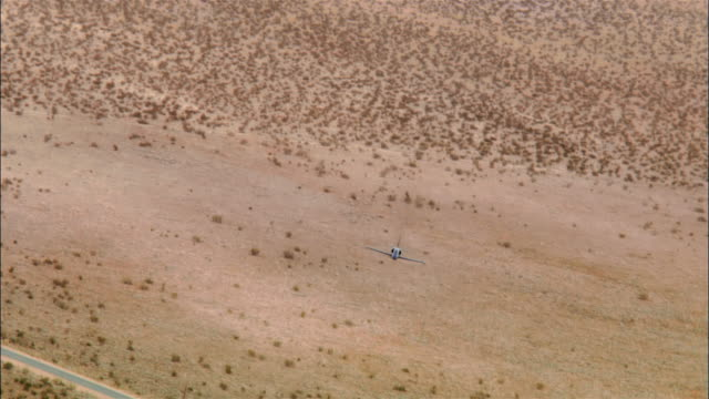 AIR TO AIR, USA, California, Mojave Desert, Aero L-39 Albatross flying above desert