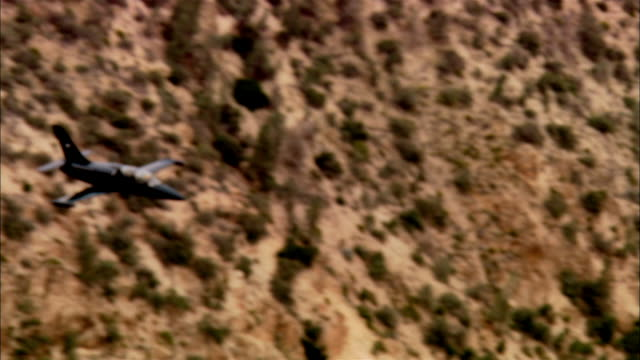 AIR TO AIR, USA, California, Mojave Desert, Aero L-39 Albatross flying low above desert