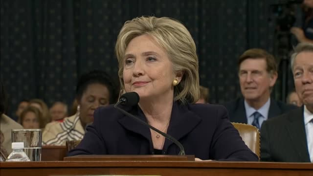 California Rep Linda Sanchez a member of the House Select Committee on Benghazi apologizes to former Secretary of State Hillary Clinton for her...