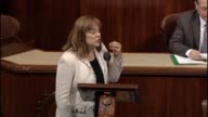 California Rep Loretta Sanchez speaks in opposition to a bill requiring additional certification for refugees from Syria and Iraq a bill drafted in...