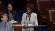 California Representative Maxine Waters of The House Financial Services Committee argues against a resolution disapproving of an arbitration rule...