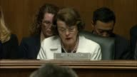 California Senator Dianne Feinstein queries nominee for director of the Federal Bureau of Investigation Christopher Wray of the any conversations he...