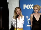 Calista Flockhart at the 1999 Emmy Awards Press Room at the Shrine Auditorium in Los Angeles California on September 12 1999