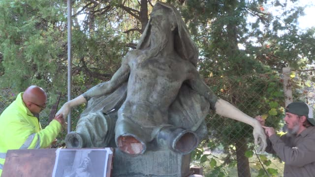 Call it a clinic to restore marred beauty arms noses hands and other appendages missing from sculptures due to vandalism or old age are replaced in a...