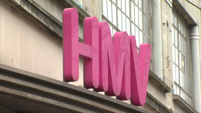 HMV calls in administrators at HMV Oxford Street on January 15 2013 in London England