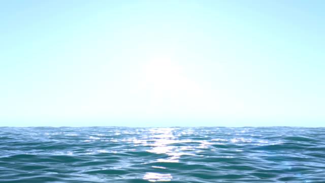 calm ocean blue morning