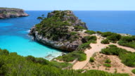 Calo des Moro (Cala de Sa Comuna) on east coast on Spanish Balearic island of Majorca / Spain