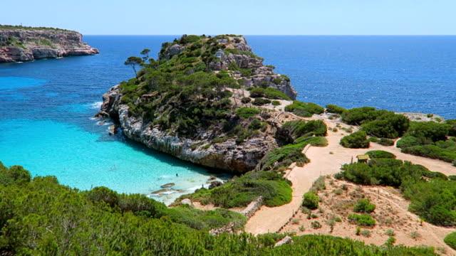 Calo des Moro (Cala de Sa Comuna) on east coast on Spanish Balearic island of Majorca / Spain
