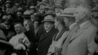 Calvin Coolidge throwing at first pitch at World Series / New York City New York USA