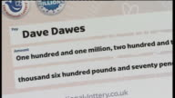 Cambridgeshire couple win EuroMillions jackpot ENGLAND Hertfordshire Hatfied Dave Dawes and Angie Dawes into press conference to applause Dave and...