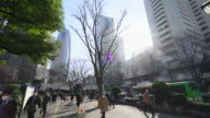 Camera captures morning commute scene at Shinjuku Subcenter Business District.