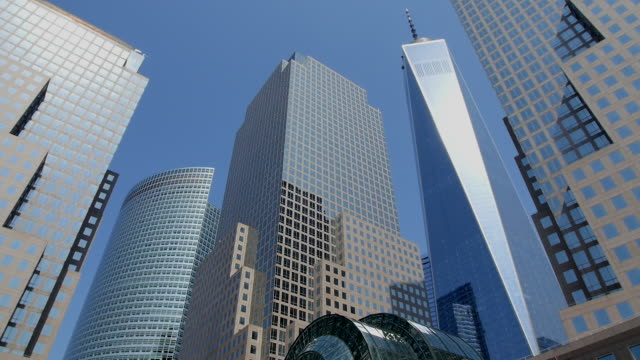 TU Camera captures One World Trade Center and skyscrapers at World Financial Center.
