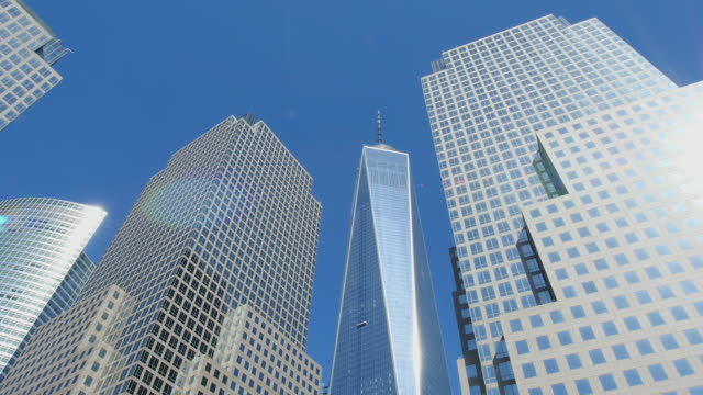 TU Camera captures World Financial Center Buildings and One World Trade Center Building.