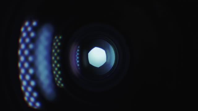 Camera Lens Shutter - Light Reflections