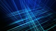 Camera Move Through Three Dimensional Animated Grid