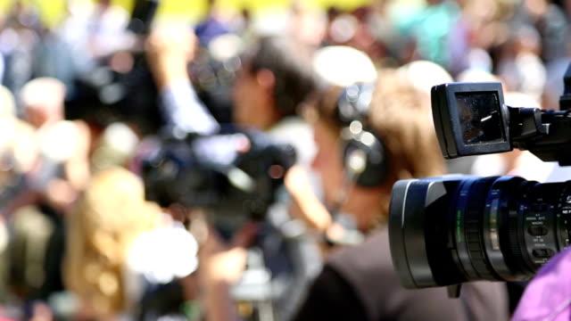 TV cameraman at work