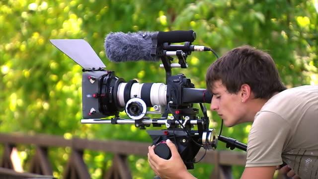 cameraman is shooting video