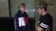 INTERVIEW Cameron Dallas Aaron Carpenter talk about Vine closing outside Katsuya Restaurant in Hollywood in Celebrity Sightings in Los Angeles