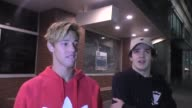 INTERVIEW Cameron Dallas confirms he is in love as he and Aaron Carpenter leave Katsuya Hollywood at Celebrity Sightings in Los Angeles on August 26...