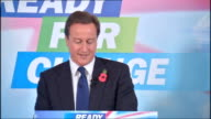 Cameron sets out priorites for the NHS ENGLAND London Royal College of Pathologists INT David Cameron MP speech SOT This weekend the Conservatives...