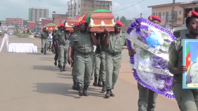 Cameroon's President Paul Biya remembers four Cameroonian soldiers killed by suspected separatists in the English speaking regions of Cameroon in a...
