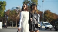 Camila Coelho and Aimee Song are seen outside the Chanel show during Paris Fashion Week Spring Summer 2017 at Grand Palais on October 4 2016 in Paris...